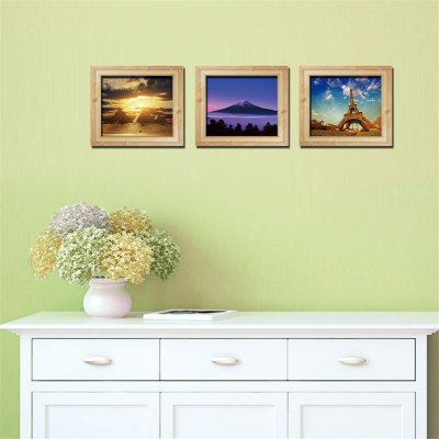 3D Frame Scenery Painting Style Wall Stickers