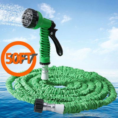 50FT Expandable Garden Water Hose Pipe with 7 in 1 Spray GunWatering &amp; Irrigation<br>50FT Expandable Garden Water Hose Pipe with 7 in 1 Spray Gun<br><br>Color: Blue,Green,Orange<br>Package Contents: 1 x 50FT Expandalble Garden Hose Wate Pipe with 7 Modes Spray Gun, 1 x Spray Gun, 1 x English Manual<br>Package size (L x W x H): 23.00 x 22.00 x 5.00 cm / 9.06 x 8.66 x 1.97 inches<br>Package weight: 0.4800 kg<br>Product size (L x W x H): 440.00 x 12.00 x 5.50 cm / 173.23 x 4.72 x 2.17 inches<br>Product weight: 0.4090 kg