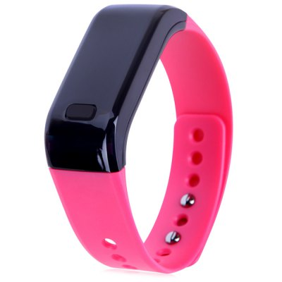 Moving up Smart Watch Sport WristbandSmart Watches<br>Moving up Smart Watch Sport Wristband<br><br>Alert type: Vibration<br>Band material: TPU<br>Battery Capacity: 60mAh<br>Bluetooth Version: Bluetooth 4.0<br>Case material: PC<br>Colors: Black,Blue,Plum<br>Compatability: Android 4.3 / iOS 7.0 and above system<br>Compatible OS: IOS, Android<br>Functions: Time, Call reminder, Alarm Clock, Camera remote control, Avoid phone loss, Sleep management, SMS Reminding<br>Language: Simplified/TraditionalChinese,English<br>Package Contents: 1 x Moving up Smart Wristwatch, 1 x Chinese and English Manual, 1 x USB Charging Clip<br>Package size (L x W x H): 10.00 x 8.00 x 3.00 cm / 3.94 x 3.15 x 1.18 inches<br>Package weight: 0.1600 kg<br>People: Unisex table<br>Product size (L x W x H): 25.00 x 2.10 x 1.00 cm / 9.84 x 0.83 x 0.39 inches<br>Product weight: 0.0200 kg<br>Screen: Yes<br>Screen type: OLED<br>Shape of the dial: Rectangle<br>Standby time: About 5 days<br>The dial diameter: 2.1 cm / 0.83 inches<br>The dial thickness: 1.0 cm / 0.39 inches<br>Waterproof: Yes<br>Waterproof Rating : Life water resistance