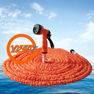 125FT 7 Modes Expandable Garden Water Hose Pipe with Spray GunWatering &amp; Irrigation<br>125FT 7 Modes Expandable Garden Water Hose Pipe with Spray Gun<br><br>Color: Blue,Green,Orange<br>Package Contents: 1 x 125FT Expandable Hose, 1 x Spray Gun, 1 x English Manual<br>Package size (L x W x H): 30.00 x 27.00 x 5.00 cm / 11.81 x 10.63 x 1.97 inches<br>Package weight: 0.8700 kg<br>Product size (L x W x H): 1,160.00 x 12.00 x 5.50 cm / 0.39 x 4.72 x 2.17 inches<br>Product weight: 0.8720 kg