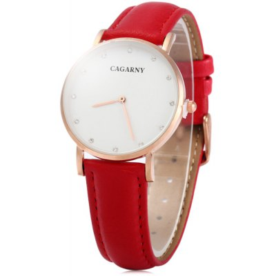 Cagarny 6813 Male Japan Quartz Watch with Leather Band