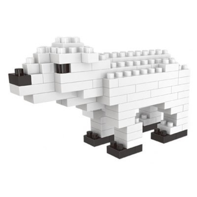 WLtoys 100 Pcs Polar Bear Building Block 6621 IQ Training