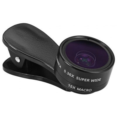 FUNIPICA F - 515 2 in 1 0.36X Super Wide Angle 15X Macro Lens Kit