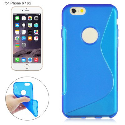 Angibabe Phone Back Case Protector for iPhone 6 / 6S TPU Material with Round Hole S Design