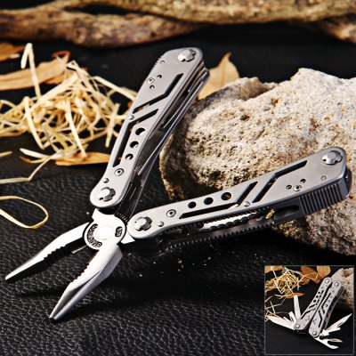 Ganzo 3028 Folding Pliers with 10pcs Screwdriver Bits
