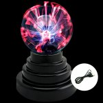3 Inch Magic LED Plasma Ball Light with Touch Sensor