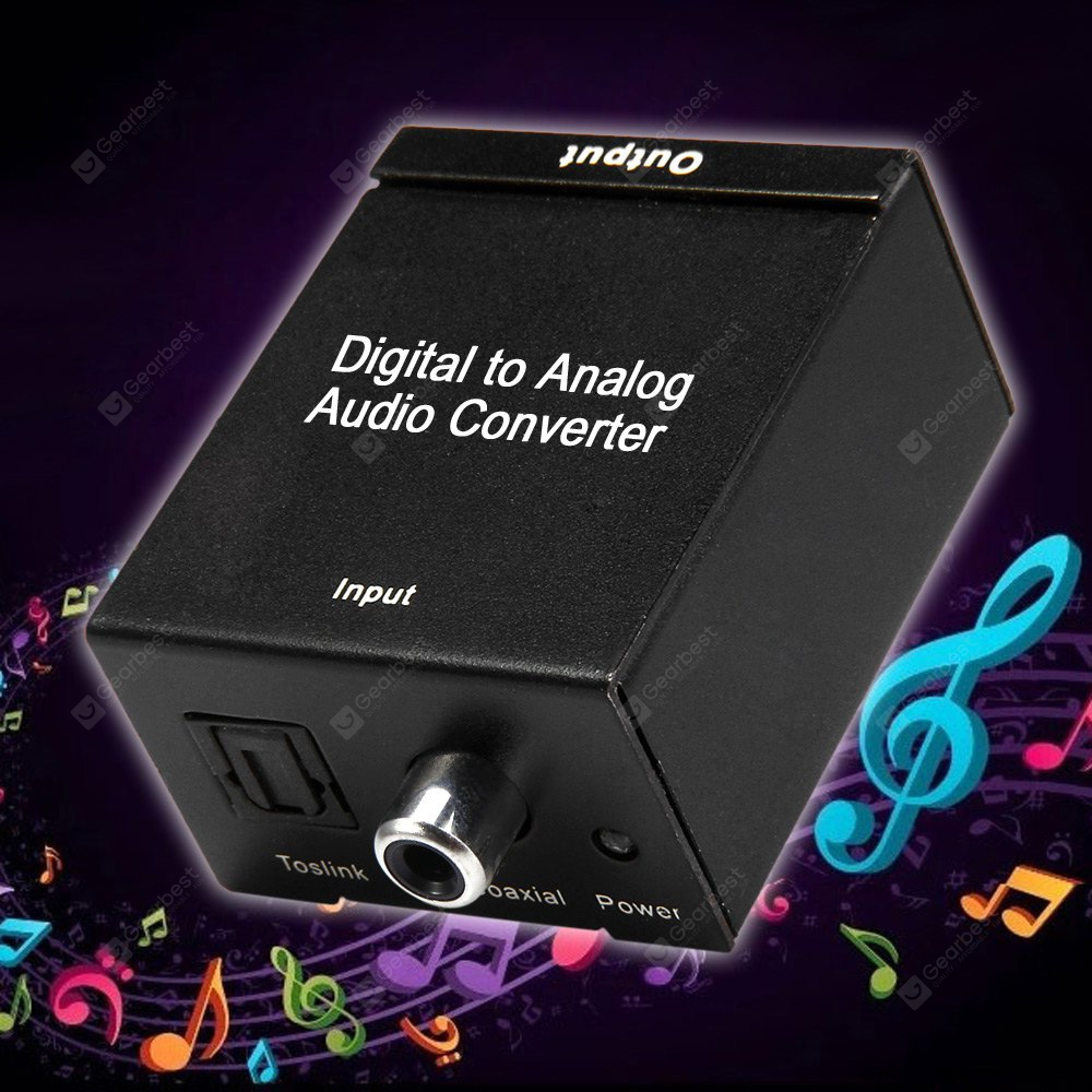 Hdc7 Coaxial Toslink Digital Signal To Analog Rca Audio Converter 100 240v Gearbest kopen
