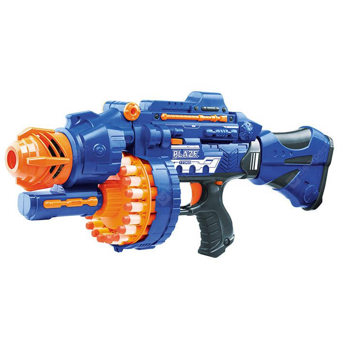 ZECONG 7051 Semi-automatic Soft Gun with 20 Pcs Soft Bullet 20 Pcs Suction Cup Bullet Shooting Pistol Toy 155426101