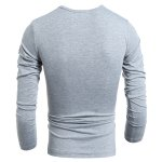 Vogue Slimming Round Neck American Flag Print Color Block Men's Long Sleeves T-Shirt deal