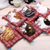 Simulation Sleeping Cat Toy with Cloth Pad deal