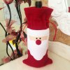 cheap Red Wine Bottle Cover Bags Christmas Ornament