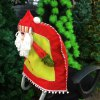 cheap Santa Claus Doll Chair Back Cover for Christmas
