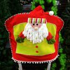 Santa Claus Doll Chair Back Cover for Christmas