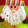 Santa Claus Doll Chair Back Cover for Christmas deal