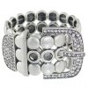 cheap Vintage Rhinestone Belt Buckle Shape Bracelet