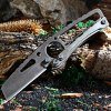 SR-033E Antique Straight Knife with Axis Lock