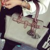 cheap Ethnic Style Tassel and Rivets Design Women's Tote Bag