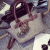 Ethnic Style Tassel and Rivets Design Women's Tote Bag deal