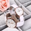 cheap SKONE 9307 Retro Quartz Couple Watch with PU Leather Strap