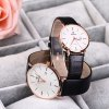 SKONE 9307 Retro Quartz Couple Watch with PU Leather Strap for sale