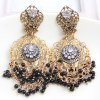 Pair of Graceful Faux Pearl Hollow Out Flower Earrings For Women