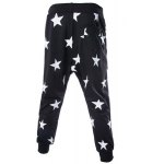 cheap Lace-Up Stars Print Low-Crotch Beam Feet Slimming Men's Nine Minutes of Pants