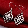 Trendy Geometric Shape Rhinestone Silver Plated Drop Earrings for Ladies for sale