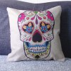 Fashion Square Skull Pattern Decorative Pillowcase(Without Pillow Inner)