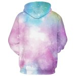 Buy Drawstring Hooded 3D Colorful Starry Sky Print Front Pocket Long Sleeves Men's Loose Fit Hoodie L COLORMIX