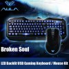 Buy AULA Broken Soul Wired USB Gaming Keyboard / Mouse Kit BLACK