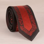 Stylish Red Retro and Latticed Jacquard 6CM Width Tie For Men