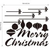 M-49 Merry Christmas Word Style Wall Stickers for sale