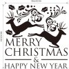 best M-28 Small Deer and Merry Christmas Wall Stickers