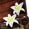 cheap Pair of Alloy Lily Flower Stud Earrings