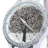 SKONE 9195 Rhinestone Big Tree Dial Female Watch deal