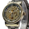 Jijia Men Automatic Mechanical Hollow-out Watch with Stainless Steel Band deal