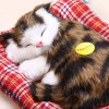 Simulation Sleeping Cat Toy with Cloth Pad photo