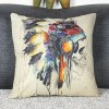 cheap Colorful Square Skull Pattern Decorative Pillowcase(Without Pillow Inner)