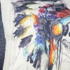 Colorful Square Skull Pattern Decorative Pillowcase(Without Pillow Inner) deal
