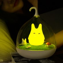 Rechargeable Rabbit LED Birdcage Light Night Lamp with Touch Sensor