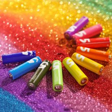 10 x Original Xiaomi Zi5 Rainbow AA Alkaline Battery