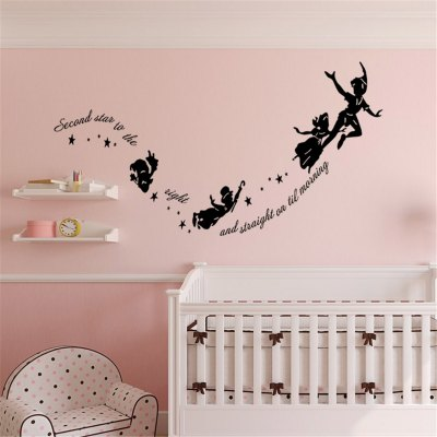 Funny Cartoon Carve Style Wall Stickers
