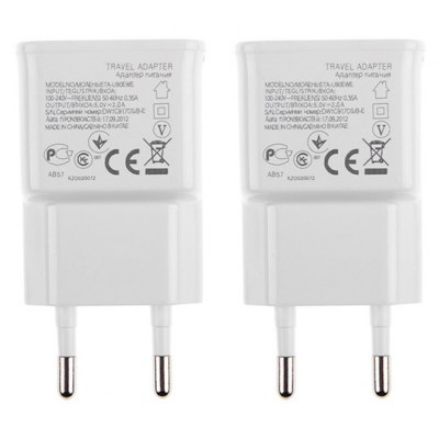 3 USB Ports AC Charger Adapter 2 PCS