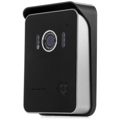 KDOOR-6 WiFi Camera Video Door BellDoorbell<br>KDOOR-6 WiFi Camera Video Door Bell<br><br>Category: Baby Cameras, Indoor and Outdoor, Intercom and Peephole<br>Rate Voltage: DC 12V<br>Rated Current : 1A<br>Mount Type: Table Type, Surface-Mount<br>Protocol: TCP, SMTP, ICMP, FTP, HTTP, IP, DHCP, PPPOE<br>Wireless : WiFi 802.11 b/g/n<br>Video Compression Format: MJPEG<br>Image Sensor: Color CMOS<br>Lens: 2.5mm<br>Lens Angles: 120 Wide Angle Degree<br>Resolution: 640 x 480<br>Image Compression: MJPEG<br>Simultaneous Viewers: 8<br>Infrared LED Quantity: 5 LEDs<br>Night Visibility: 3 - 5m<br>Operating Tempt.: - 20 - 70  Degree<br>Operating  Humidity: Less Than 95 Percent<br>Certification: FCC, RoHS, CE<br>Product Weight: 0.158 kg<br>Package Weight: 0.500 kg<br>Product Size  ( L x W x H ): 11.6 x 8.6 x 2  cm / 4.56 x 3.38 x 0.79 inches<br>Package Size ( L x W x H ): 18.5 x 14.5 x 6 cm / 7.27 x 5.70 x 2.36 inches<br>Package Contents: 1 x Video Door Bell, 1 x Adapter, 1 x Packing of Accessory, 1 x English User Manual