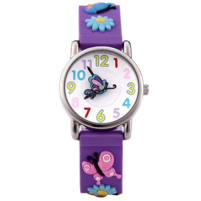 Willis Children Quartz Watch with 3D Butterfly Pattern Rubber StrapKids Watches<br>Willis Children Quartz Watch with 3D Butterfly Pattern Rubber Strap<br><br>Brand: WILLIS<br>Watches categories: Children watch<br>Watch style: Lovely<br>Movement type: Quartz watch<br>Shape of the dial: Round<br>Display type: Analog<br>Case material: Stainless steel<br>Band material: Rubber<br>Clasp type: Pin buckle<br>The dial thickness: 0.7 cm / 0.28 inches<br>The dial diameter: 2.1 cm / 0.83 inches<br>The band width: 1.6 cm / 0.63 inches<br>Wearable length: 13.5 - 17.5 cm / 5.31 - 6.89 inches<br>Product weight: 0.025 kg<br>Package weight: 0.075 kg<br>Product size (L x W x H) : 20 x 2.1 x 0.7 cm / 7.86 x 0.83 x 0.28 inches<br>Package size (L x W x H): 21 x 3.1 x 1.7 cm / 8.25 x 1.22 x 0.67 inches<br>Package contents: 1 x Willis Watch