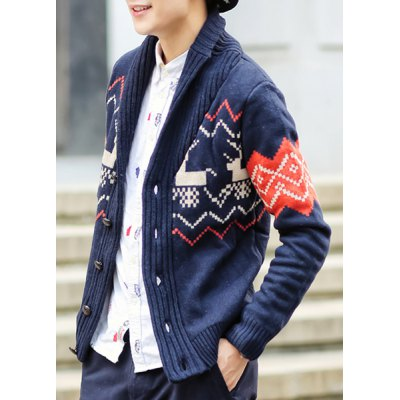 Hot Sale Shawl Collar Cartoon Deer Geometric Jacquard Long Sleeves Mens Slimming CardiganMens Sweaters &amp; Cardigans<br>Hot Sale Shawl Collar Cartoon Deer Geometric Jacquard Long Sleeves Mens Slimming Cardigan<br><br>Type: Cardigans<br>Material: Cotton Blends<br>Sleeve Length: Full<br>Collar: Turn-down Collar<br>Technics: Computer Knitted<br>Style: Fashion<br>Weight: 0.860KG<br>Package Contents: 1 x Cardigan