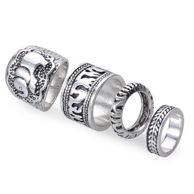 4 pcs Retro Style Round Rings for LadiesRings<br>4 pcs Retro Style Round Rings for Ladies<br><br>Gender: For Women<br>Metal Type: Silver<br>Style: Trendy<br>Shape/Pattern: Round<br>Weight: 0.020KG<br>Package Contents: 4 x Ring(Piece)
