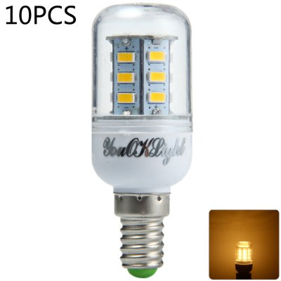 10 x YouOKLight 7W E14 SMD 5730 600LM LED Corn Lamp Bulb