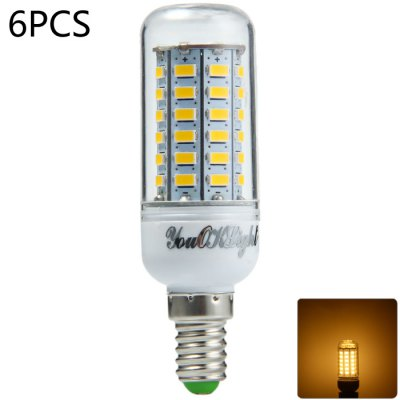 6 x YouOKLight E14 15W 1350LM SMD 5730 56 LED Corn Light
