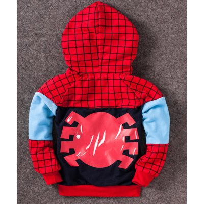 Fashionable Spider-Man Pattern Checked Long Sleeve Boys Zip Up HoodieBoys Clothing<br>Fashionable Spider-Man Pattern Checked Long Sleeve Boys Zip Up Hoodie<br><br>Type: Cardigans<br>Material: Cotton Blends<br>Sleeve Length: Full<br>Collar: Hooded<br>Style: Fashion<br>Weight: 0.267KG<br>Package Contents: 1 x Hoodie